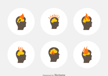 Free Head Burnout Vector Icons - Kostenloses vector #389045