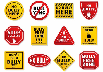 Free Bullying Sign Vector - Kostenloses vector #389085