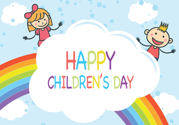 Rainbow Children's Day Vector - Free vector #389105