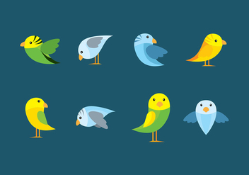 Budgie Flat Cartoon - vector gratuit #389165