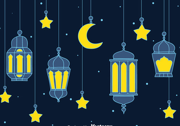 Arabian Lantern Background - бесплатный vector #389185