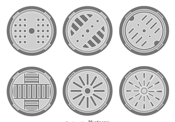 Manhole Cover Vector - Free vector #389215