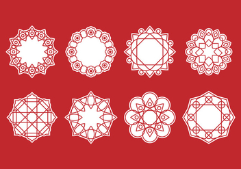 Free Set of Mandala Decorative Vector - Free vector #389265