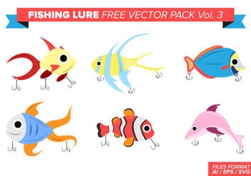 Fishing Lure Free Vector Pack Vol. 3 - vector #389275 gratis