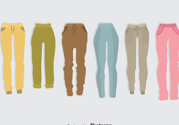 Colorful Sweatpants Vector Set - бесплатный vector #389515