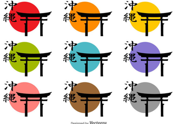 Torii Vector Icon Silhouettes - Free vector #389535