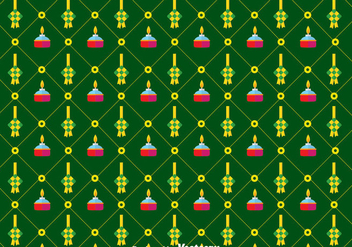 Flat Ketupat Pattern Background - vector gratuit #389585