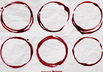 Realistic Wine Stain Vector Shapes - vector gratuit #389595