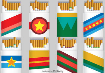 Cigarette Pack Vector Icons - Free vector #389605