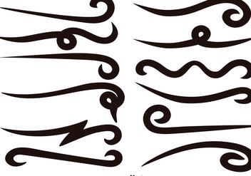 Vector Set Of Black Swishes - Free vector #389615