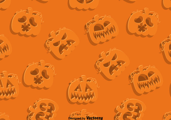 Vector SEAMLESS Pattern Of Jack-O-Lanterns - vector gratuit #389645