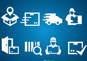 Delivery White Icons Vector - vector gratuit #389665