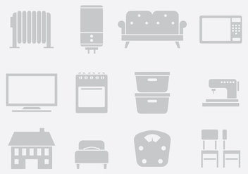 Gray Home Items One - vector gratuit #389705