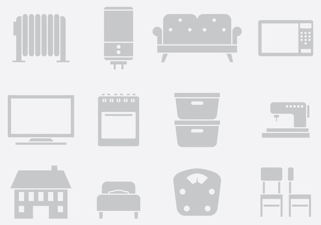 Gray Home Items One - Free vector #389705