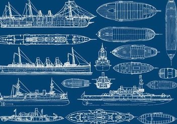 Boat And Ship Planes - vector gratuit #389735