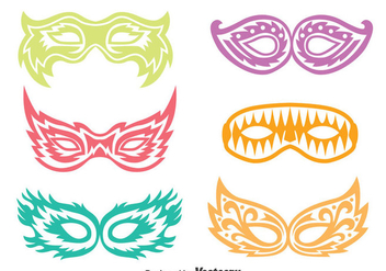 Pageant Mask Vector Set - vector gratuit #389765