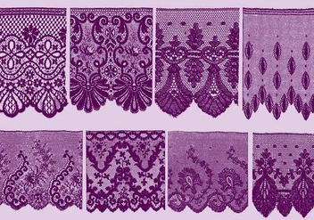 Lace Trim Silhouettes - Kostenloses vector #389865