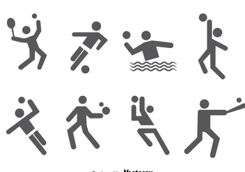 Sports Icons Vector - Free vector #389895