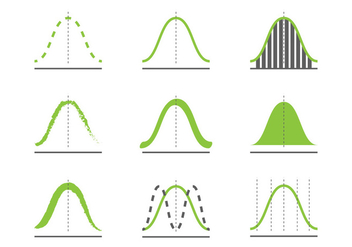 Gaussian Curve Icons - Free vector #389915