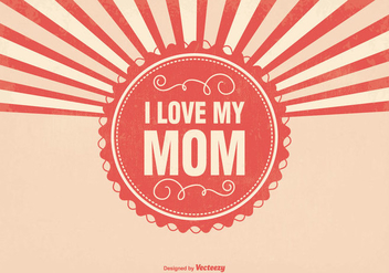 Sunburst Mother's Day Illustration - vector gratuit #389925