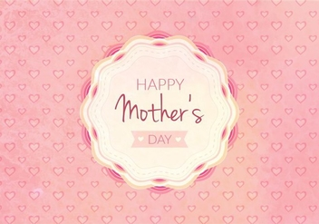 Free Vector Happy Moms Day Illustration - бесплатный vector #389985