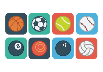 Free Flat Sport Ball Icons - vector gratuit #390065