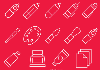 Drawing Tools Line Icons Vector - vector gratuit #390175