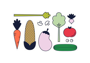 Free Vegetables Vector - бесплатный vector #390205