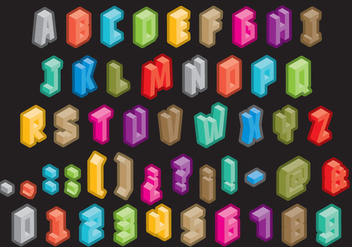 Isometric Type - vector #390215 gratis