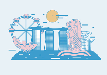 Merlion Vector - Free vector #390235
