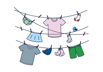 Free Hung Clothes Vector - vector gratuit #390245