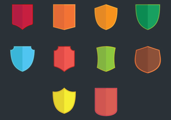 Blason Flat Icon Set - vector gratuit #390275