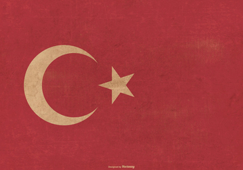Grunge Flag of Turkey - vector gratuit #390345