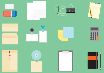 Office Items Icons - vector #390355 gratis