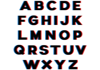 3D Effect Alphabet - vector #390375 gratis