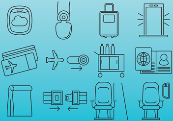 Plane Travel Icons - Kostenloses vector #390425