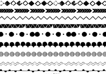 Hand Drawn Vector Borders - Free vector #390545