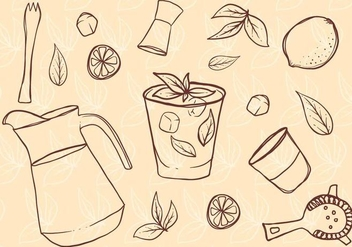 Free Hand Drawn Caipirinha Set - vector gratuit #390605