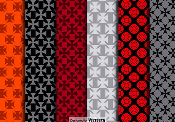 Vector Maltese Crosses Seamless Patterns - бесплатный vector #390715