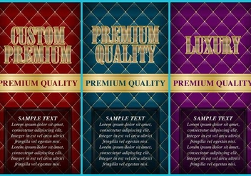 Luxury Custom Premium Flyers - vector gratuit #390725