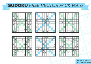 Sudoku Free Vector Pack Vol. 6 - бесплатный vector #390745
