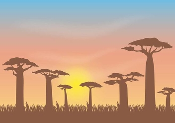 Free Baobab Vector Illustration - бесплатный vector #390765