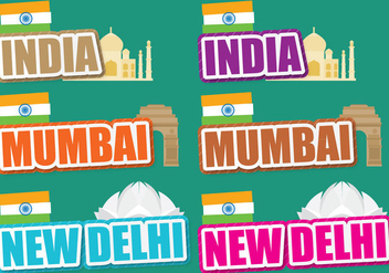 India Titles - vector gratuit #390805