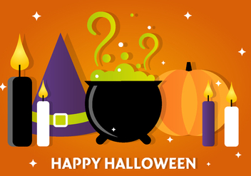 Free Halloween Vector Witch Accessories - Kostenloses vector #390915