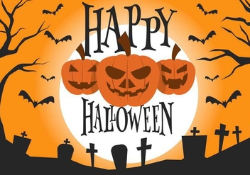 Free Halloween Vector Illustration - бесплатный vector #391005