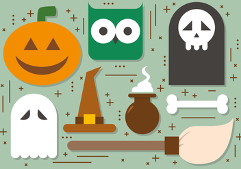 Free Halloween Elements Vector Collection - vector gratuit #391025