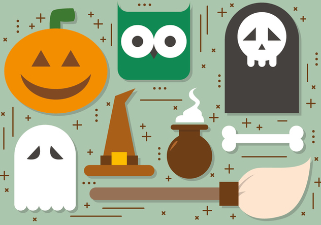 Free Halloween Elements Vector Collection - Free vector #391025