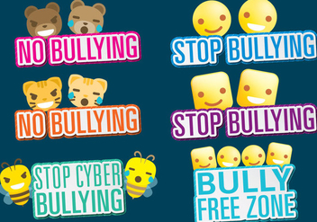 Bullying Titles - Free vector #391045