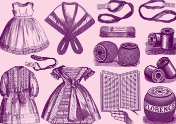 Vintage Lace Materials And Applications - vector gratuit #391095