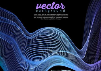 Vector Blue Wave Template On Black Background - Kostenloses vector #391175